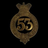 Victorian  53rd (Shropshire) Regiment Of Foot Glengarry Cap Badge