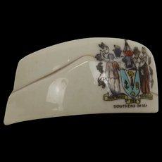 WW1 Willow Crested China Southend-On-Sea British Army Cap