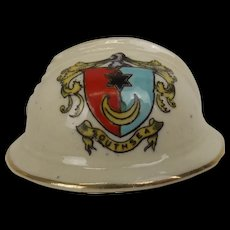 WW1 Crested China French Army Adrian Helmet With Southsea Crest