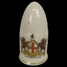 WW1 Crested China Artillery Shell City Of London Crest
