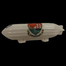 Carlton Crested China WW1 Zeppelin With Littlehampton Crest