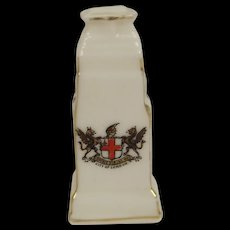 Willow Crested China Model Of The London Cenotaph With City Of London Crest