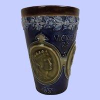 1897 Queen Victoria Diamond Jubilee Lambeth Beaker