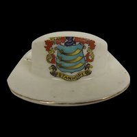 Arcadian Crested China WW1 ANZAC Slouch Hat With Stanhope Crest