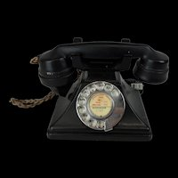 1932 Black Pyramid Shaped Bakelite GPO Telephone S-32 234