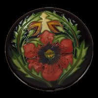 Moorcroft 2002 Poppy Pattern Pin Dish