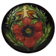 Moorcroft 2002 Poppy Pattern Pin Dish
