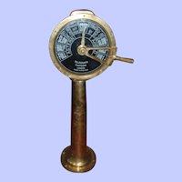 Full Size Original Chadburn Single Pull Brass Ships Telegraph