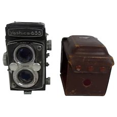 Yaschica 635 Twin Lens Reflex 120 Medium Format Camera And Case