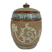 Royal Doulton Slaters Tobacco Jar With Applique Decoration