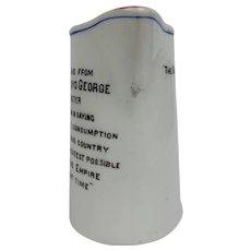 Grimwades Bachelors Milk Jug David Lloyd George