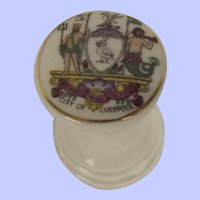 Arcadian Crested China Ships Capstan With Liverpool Crest