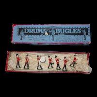 1930's Britains Toy Soldiers Drums & Bugles Set No. 30