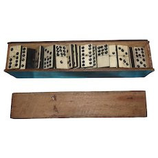 Early 20th Century 55 Piece Double-Nine Dominoes Set