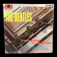 The Beatles Please Please Me Vinyl LP Mono Gold/Black Label with Dick James Credits