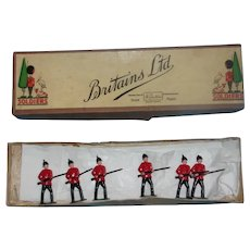 Britains Infantry Of The Line Standing On Guard Review Order Set 2A