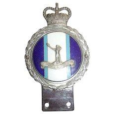Royal Observer Corps Car Badge By J. R. Gaunt