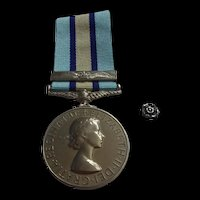 Named Royal Observer Corps Medal With Clasp, Rosette And Box