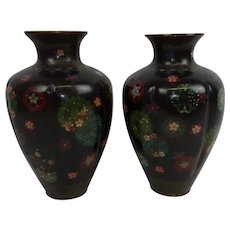 Pair Of Late 19th Century Japanese Cloisonne Vases