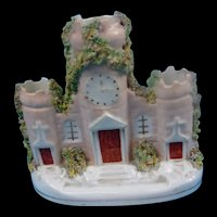 Circa 1860 Staffordshire Spill Vase Of A Castellated Manor House