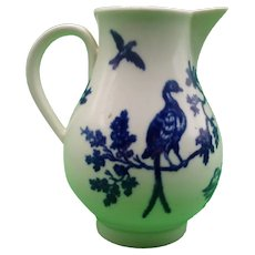 18th Century Worcester Sparrow Beak Jug In The Bird In A Tree Pattern