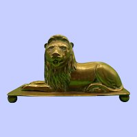 Victorian Brass Lion Pin Cushion