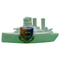 Crested Ware Arcadian China Hastings Battleship