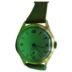 1940's Swiss Made Manual Wind Gents Wrist Watch