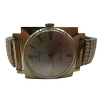 1950's Services Manual Wind Gold Plated Gents Watch