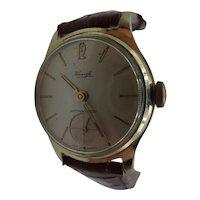 Circa 1950 Kienzle Manual Wind Gold Plated Gents Watch