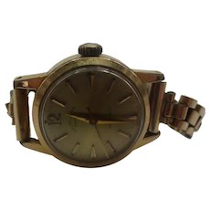 1950's Favre Leuba Automatic Gold Plated Cocktail Ladies Watch
