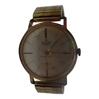 1960's Allaine Manual Wind 17 Jewel Gold Plated Stainless Steel Gents Watch