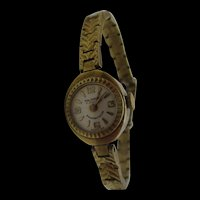 1960's Majorex 17 Jewel Manual Wind Rolled Gold Stainless Steel Ladies Cocktail Watch