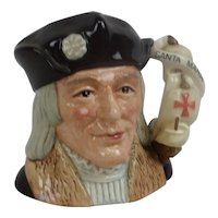 Limited Edition Royal Doulton Christopher Columbus Mid-Sized Character Jug