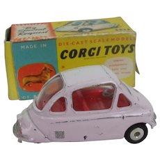 Boxed Corgi Toys 233 Heinkel Economy Car