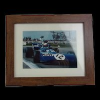 Jackie Stewart Hand Signed Photograph Of The Legend In The Tyrell 003