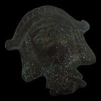 Circa 50 AD Roman Mask Figure Of An Egyptian Pharaoh