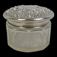 Circa 1900 London Silver Repousse Pot