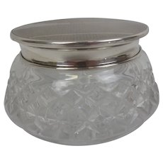 Birmingham 1944 Silver Topped Cut Glass Pot