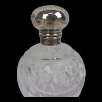 Birmingham 1920 Silver Topped Cut Glass Pot