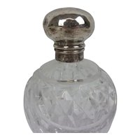 Birmingham 1920 Silver Topped Cut Glass Pot