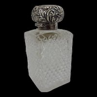 London 1898 Silver Topped Cut Glass Pot