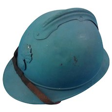 WW1 French Adrian Helmet With Its Original Liner And Chinstrap
