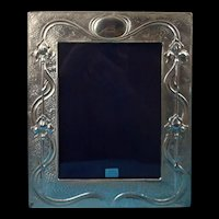 Sterling Silver Photoframe In The Art Nouveau Taste