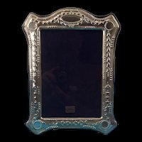 Sterling Silver Photoframe With Bluebells