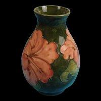 Moorcroft Hibiscus Pattern Ovoid Vase