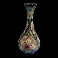 Tall Moorcroft White Lily Vase