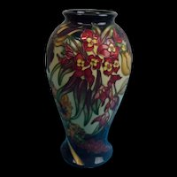 Moorcroft Ovoid Vase With Freesias, Orchids And Other Flowers