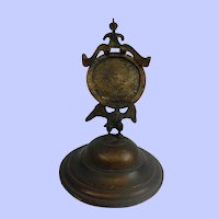 Victorian Brass Watch Stand With Eagle Mount