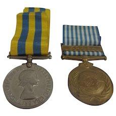 Korea And UN Korea War Medal Pair To Driver Hornhill RASC